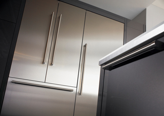 Stainless Steel Kitchen Cabinets Luma, NM